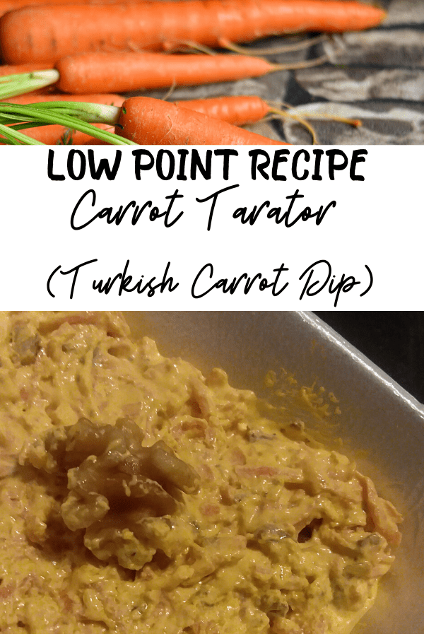 Low Points for myWW appetizer carrot tarator recipe