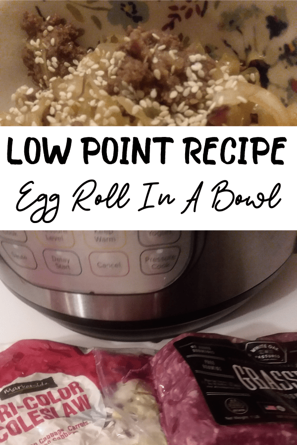 low carb egg roll in a bowl recipe