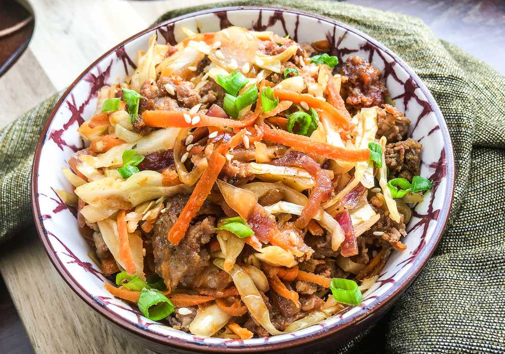 Chinese Food on MyWW: Egg Roll In A Bowl