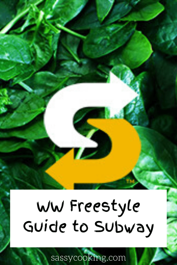 WW Guide to subway weight watchers freestyle