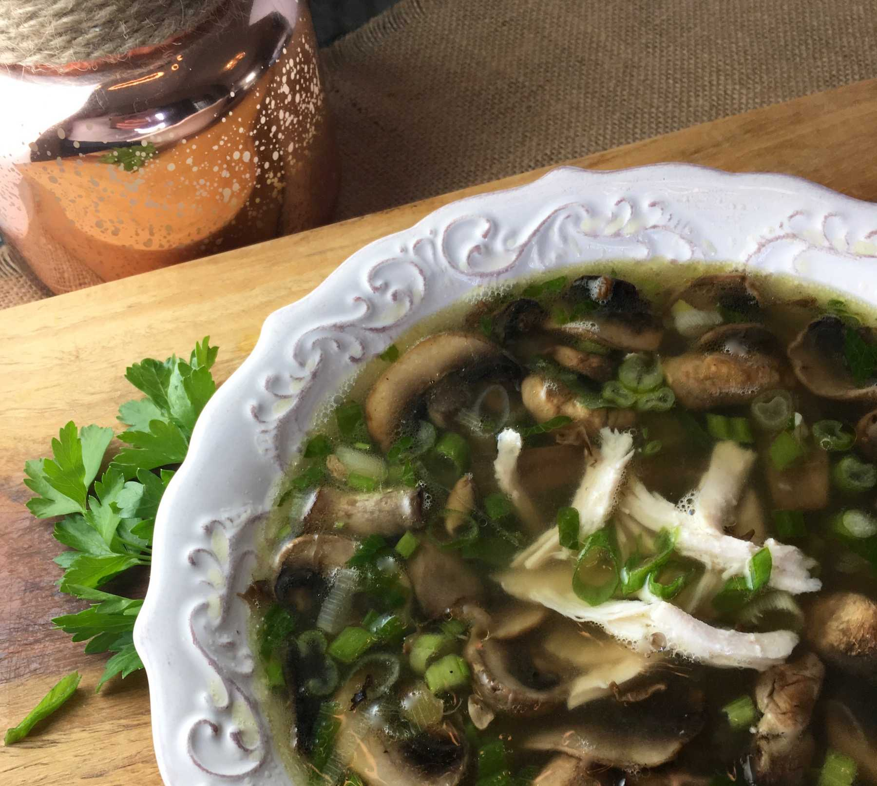 Leftover Turkey Marsala Soup