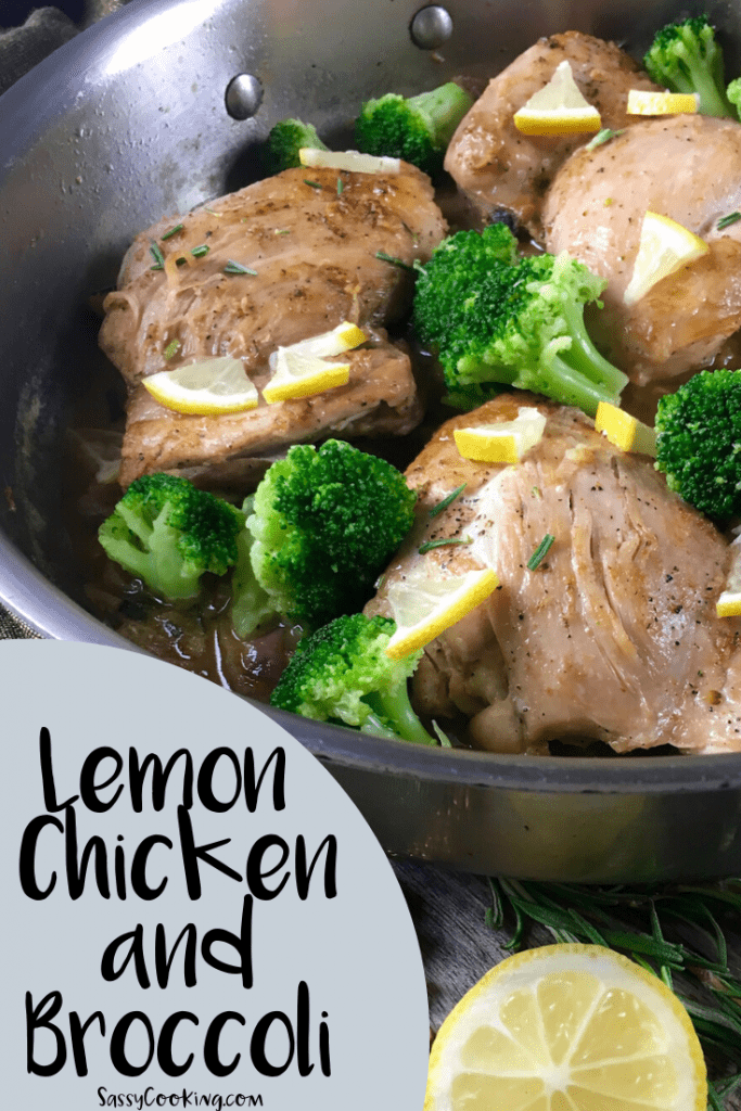 Easy Lemon Chicken and Broccoli in a pan