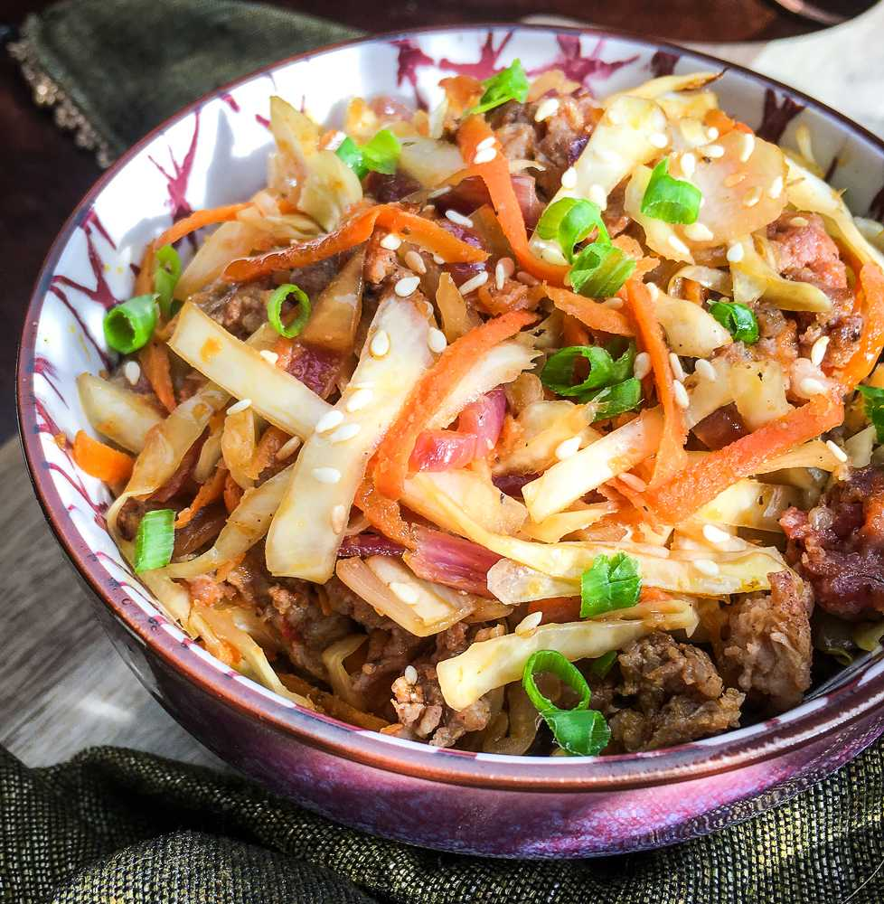 Low Carb Egg Roll in a Bowl