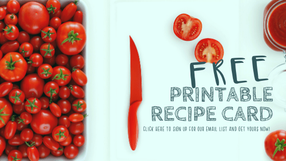 Healthy Tomato Sauce Recipe Free Recipe Card