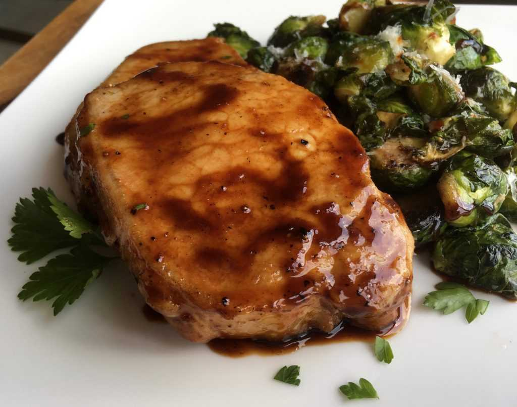 Maple-Balsamic Boneless Pork Chops