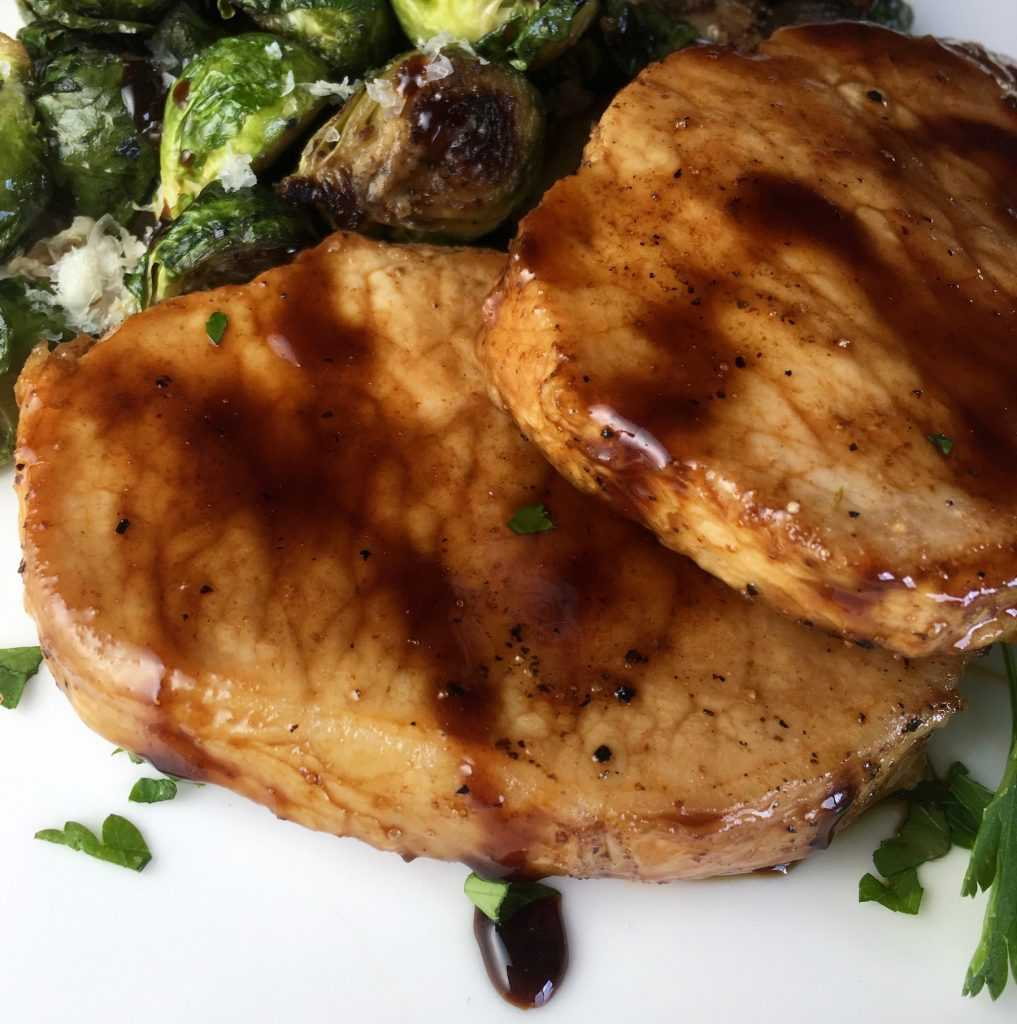 Maple Balsamic Pork Chops WW Green Plan Recipe