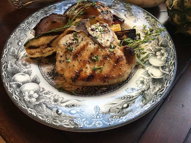 Herb Rubbed Bone-In Pork Chop Recipe
