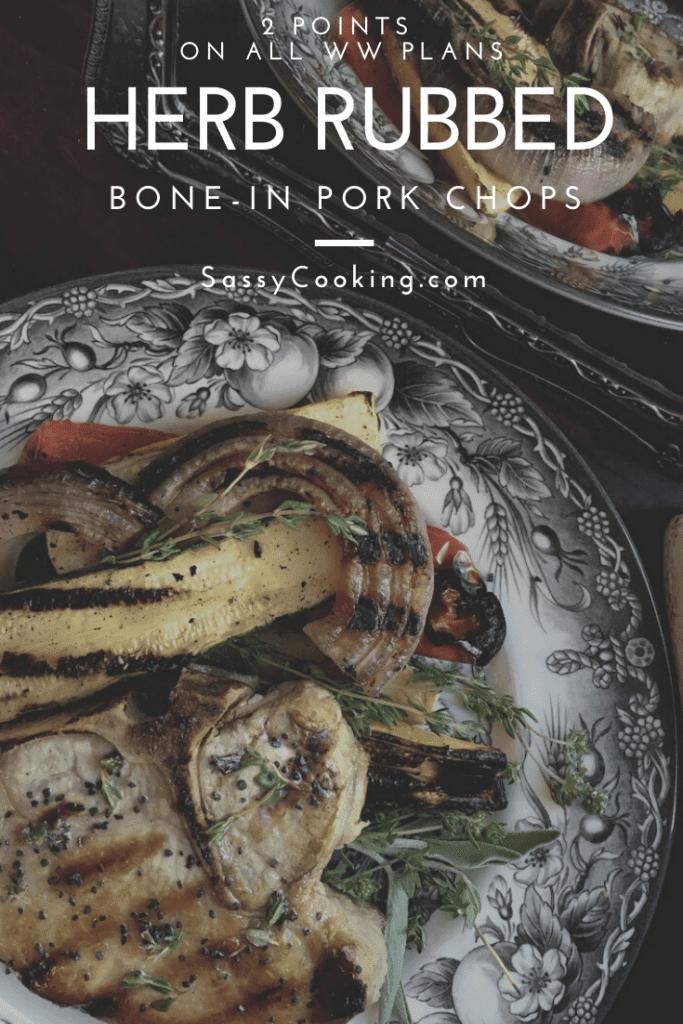 Herb Rubbed Bone-In Pork Chops