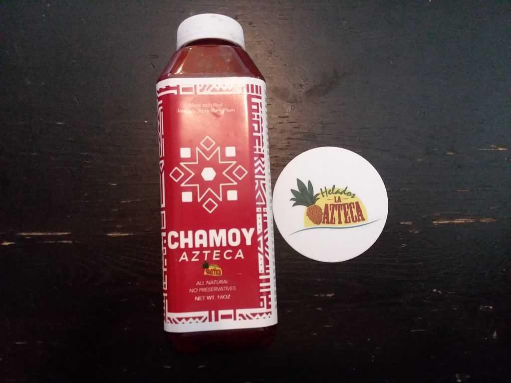 Bottle of Chamoy Azteca Sauce
