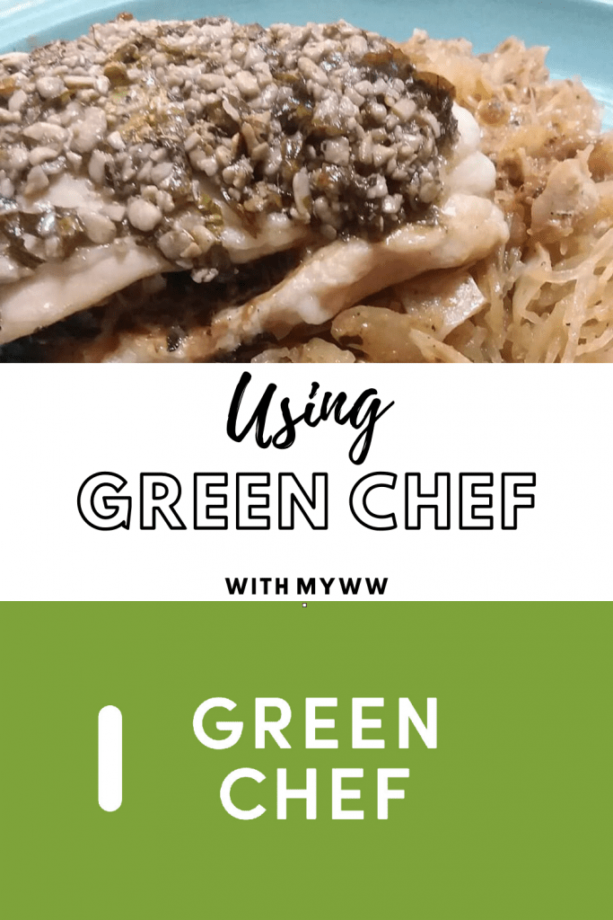 Using Green Chef with MyWW showcasing stuffed chicken with spaghetti squash
