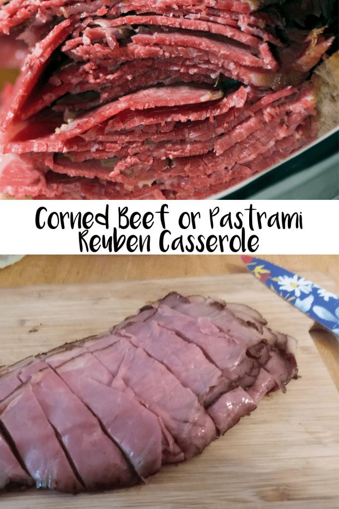 Corned Beef or Pastrami Reuben Casserole
