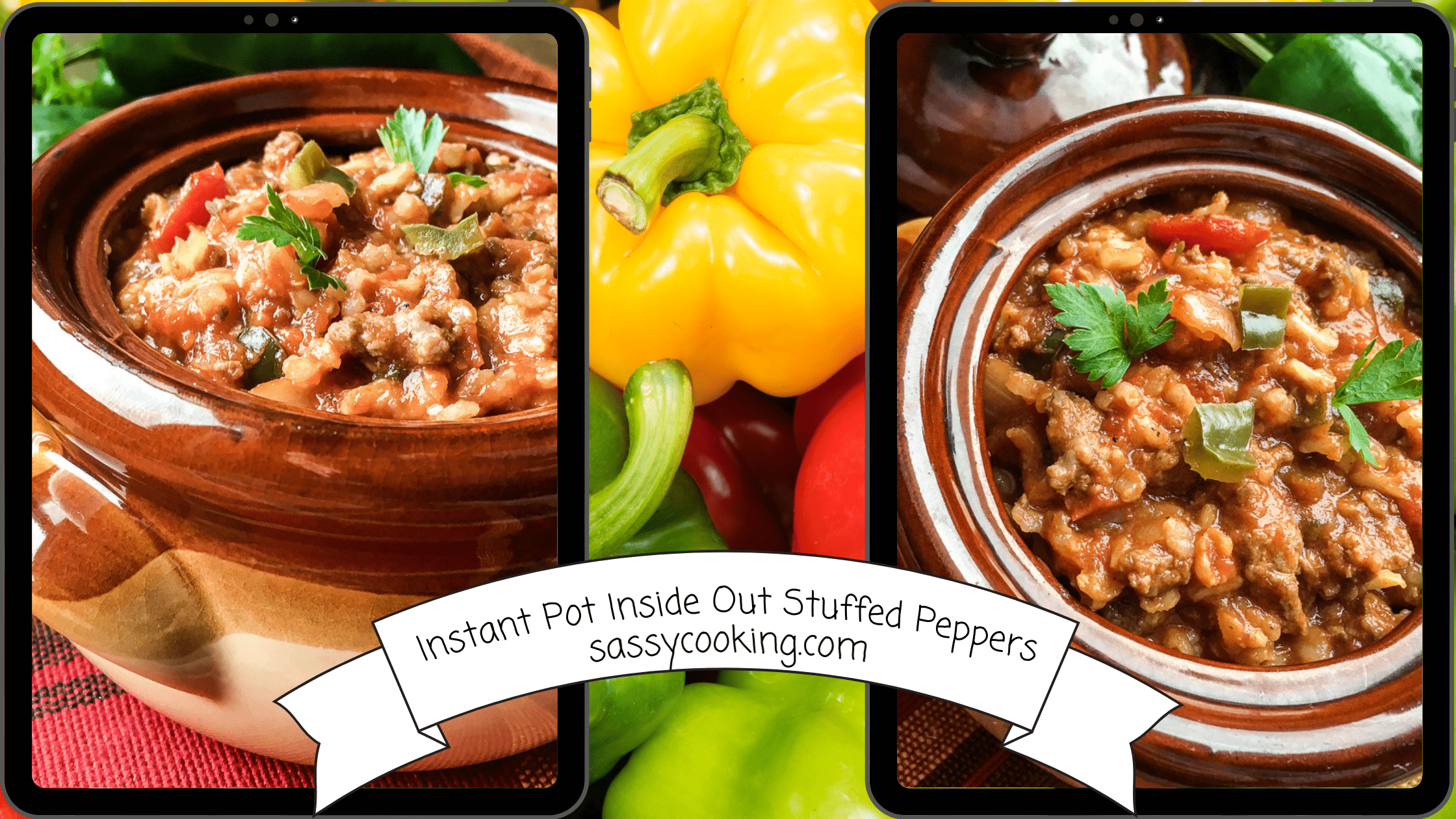 Instant Pot Inside Out Stuffed Peppers