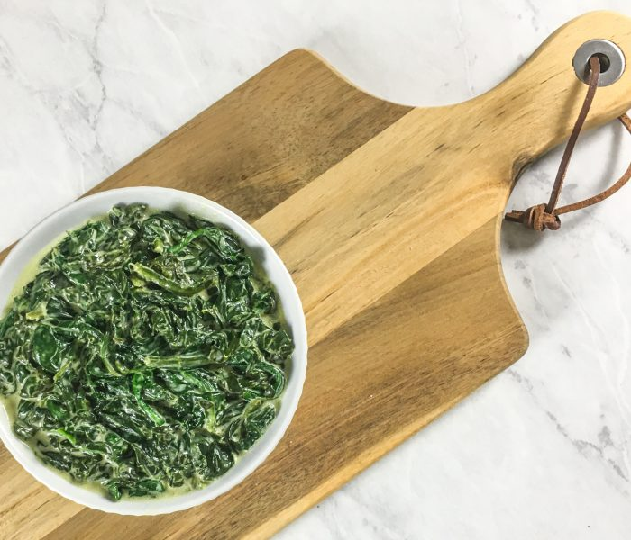 Low Carb Creamed Spinach
