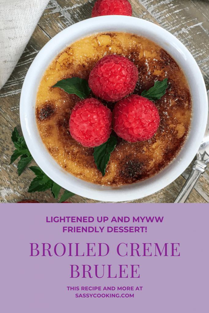 healthy version of Creme Brulee for low sugar, weight watcher dessert zero points