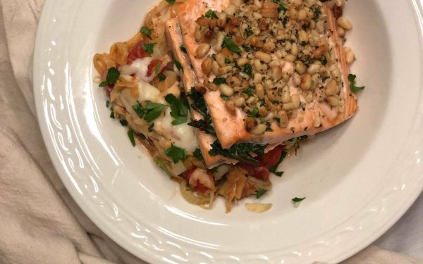 The Best Kale Stuffed Salmon with Pesto Pine Nut Crust and 11 Side Dish Ideas